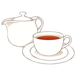 ティーカップ&ポット ティーカップ&ポット - 素材【クリップアート】 - 彩クリWEB 彩クリ